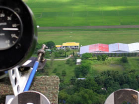 Arial view from an ultralight plane of the ACFC